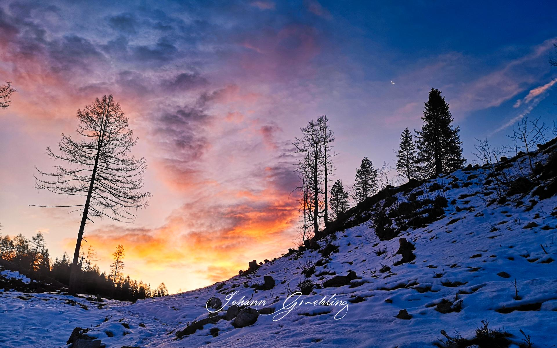Sonnenaufgang am Bruennstein