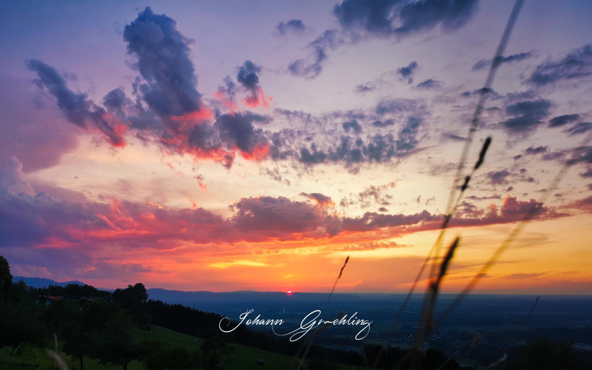 Sonnenuntergang am Samerberg