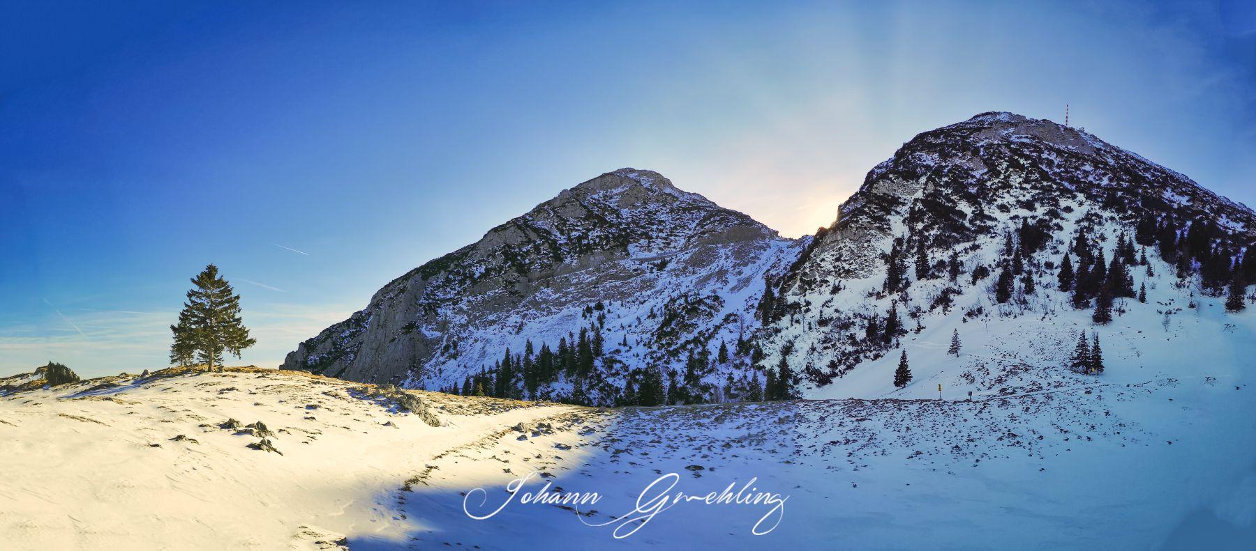 Berge im Wendelsteingebiet im Winter