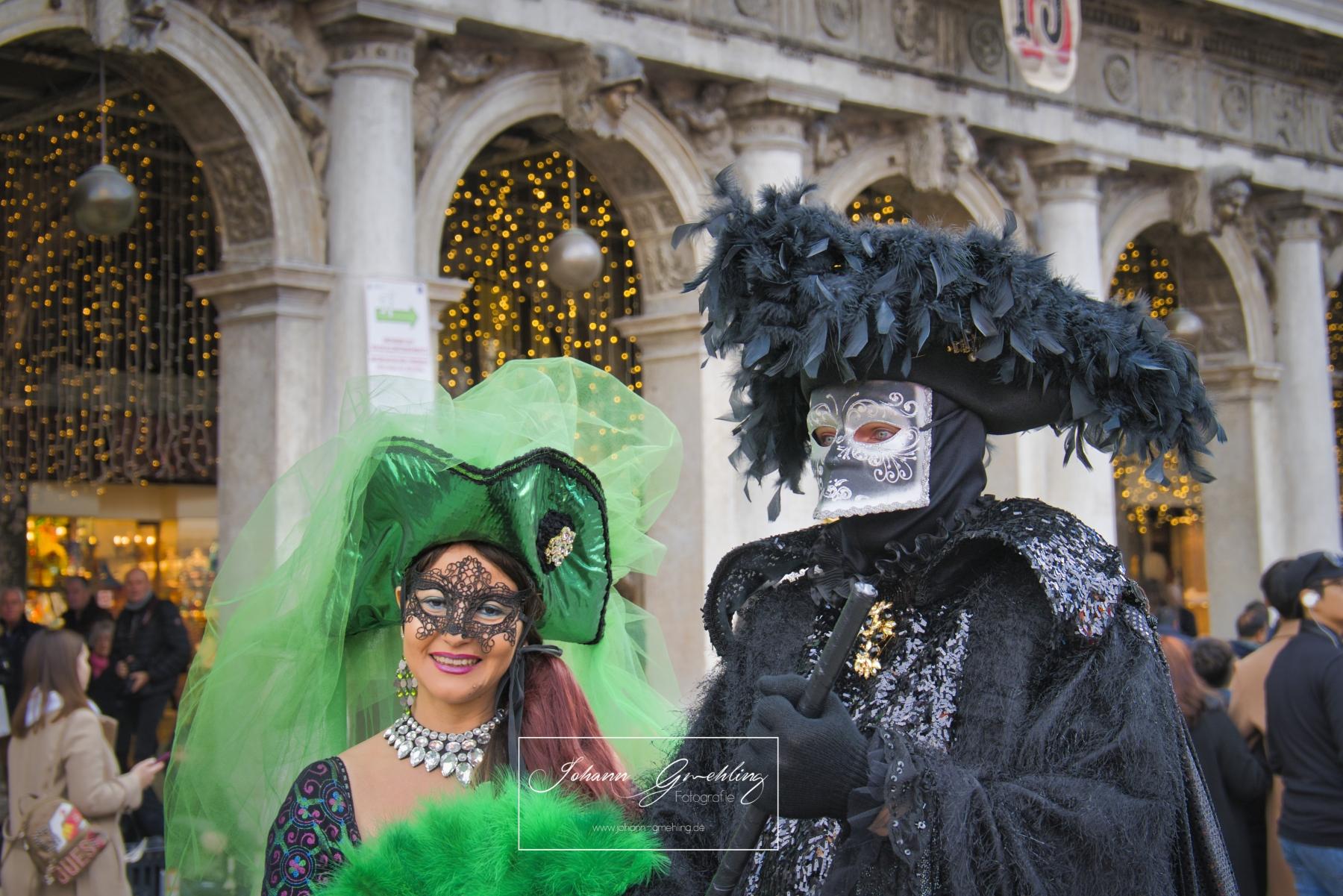 Masken am Karneval
