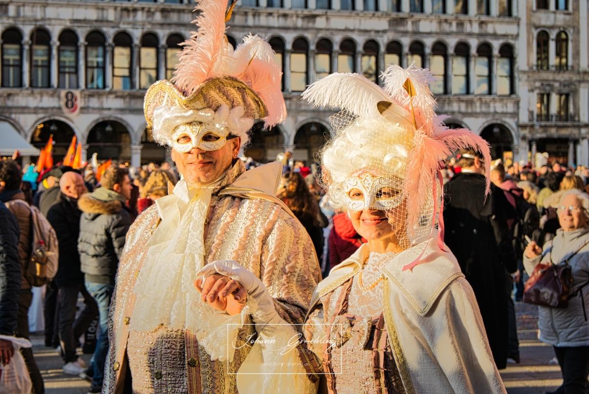 Masken am Karneval in Venedig
