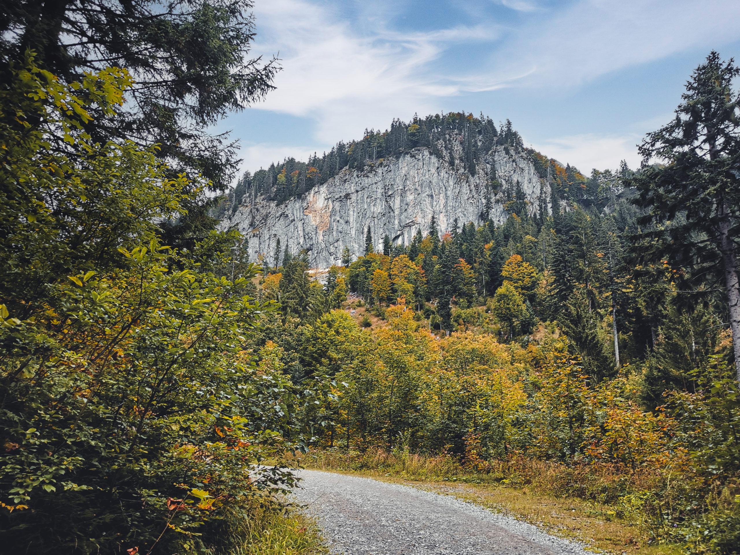 Herbst am Schleier Wasserfall bei Going